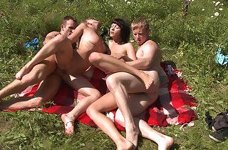 Molten sunbathing and fucking